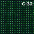 C-32 fekete-sötétzöld színminta