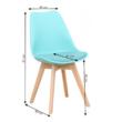 Bali szék, menta - méretek