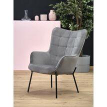 Halmar CASTEL fotel, Szürke - A-Z Bútor Webáruház