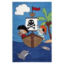 Smart Kids Gyerekszőnyeg, Pirate Kids, Kék, 110X170 - A-Z Bútor Webáruház