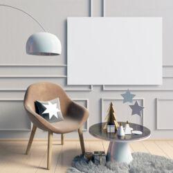 pasztell színű nappali