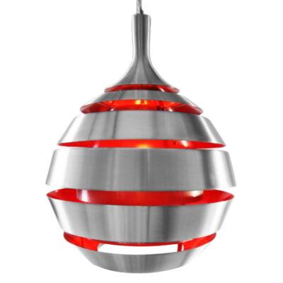 Halley Függőlámpa, Ezüst-Piros - A-Z Bútor Webáruház