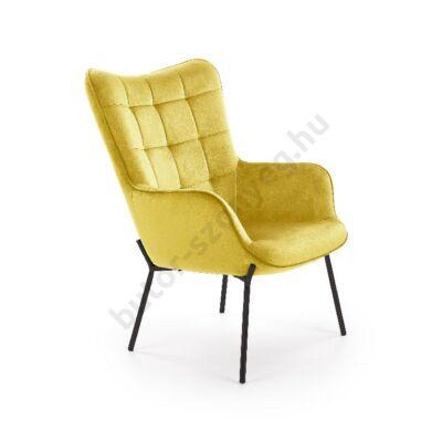 Halmar CASTEL fotel, mustársárga - A-Z Bútor Webáruház