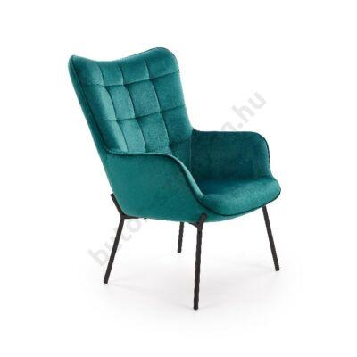 Halmar CASTEL fotel, sötétzöld - A-Z Bútor Webáruház