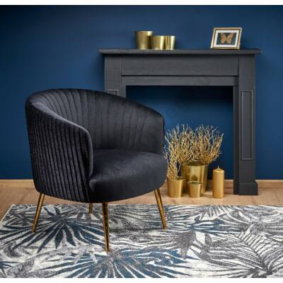 Halmar CROWN fotel, fekete - A-Z Bútor Webáruház