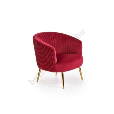 Halmar CROWN fotel, bordó - A-Z Bútor Webáruház
