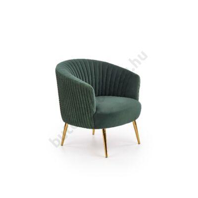 Halmar CROWN fotel, sötétzöld - A-Z Bútor Webáruház