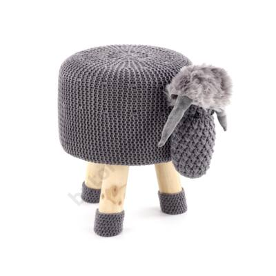 Dolly 1 báránykás ülőke, szürke - A-Z Bútor Webáruház