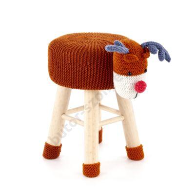 Dolly 3 rénszarvasos ülőke, krém - A-Z Bútor Webáruház
