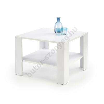 Halmar KWADRO KWADRAT Dohányzóasztal, Fehér - A-Z Bútor Webáruház