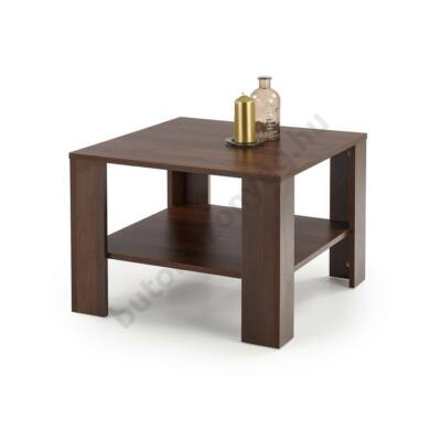 Halmar KWADRO KWADRAT Dohányzóasztal, Sötét Dió - A-Z Bútor Webáruház