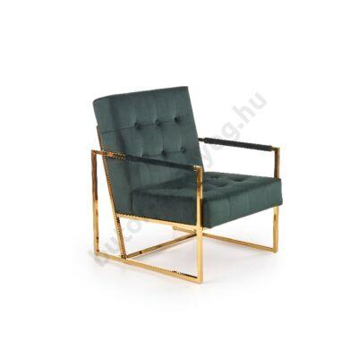 Halmar PRIUS fotel, sötétzöld - A-Z Bútor Webáruház