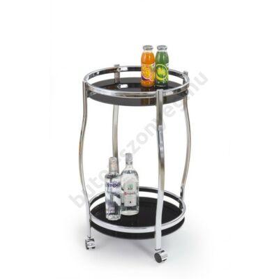 Halmar Bar-8 Zsúrkocsi, Fekete-Króm - A-Z Bútor Webáruház