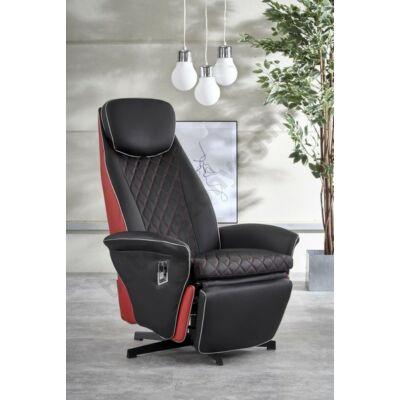 Halmar Pulsar Relax Fotel, Fekete - A-Z Bútor Webáruház
