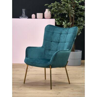 Halmar CASTEL 2 fotel, sötétzöld - A-Z Bútor Webáruház