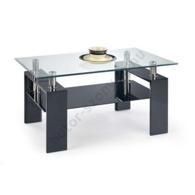 Halmar Diana H Magasfényű Dohányzóasztal, Fekete - A-Z Bútor Webáruház