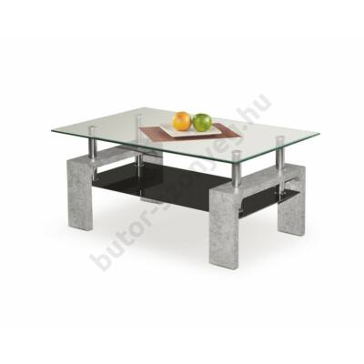 Halmar Diana Intro Dohányzóasztal, Beton Szürke - A-Z Bútor Webáruház