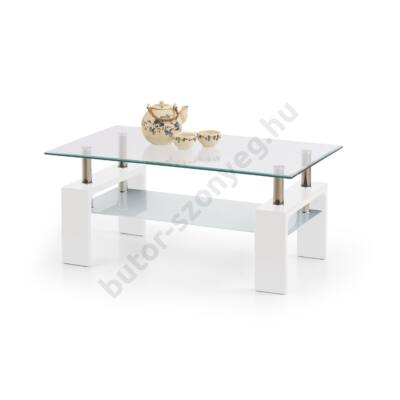 Halmar Diana Intro Dohányzóasztal, Fehér - A-Z Bútor Webáruház