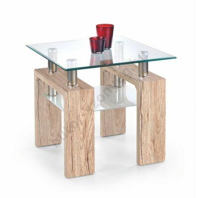 Halmar Diana H Kwadrat Dohányzóasztal, San Remo Tölgy - A-Z Bútor Webáruház