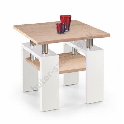 Halmar Diana H MDF Kwadrat Dohányzóasztal, Sonoma Tölgy-Fehér - A-Z Bútor Webáruház