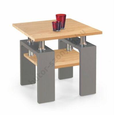 Halmar Diana H MDF Kwadrat Dohányzóasztal, Arany Tölgy-Grafitszürke-Fehér - A-Z Bútor Webáruház