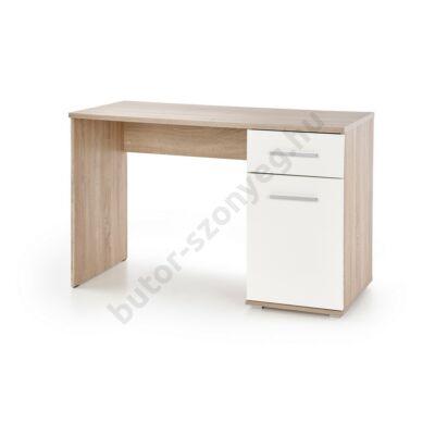 Halmar LIMA B-1 Íróasztal, Sonoma Tölgy-Fehér - A-Z Bútor Webáruház