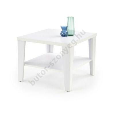 Halmar MANTA KWADRAT Dohányzóasztal, Fehér - A-Z Bútor Webáruház