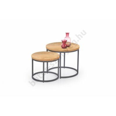Halmar OREO Dohányzóasztal Szett, Arany Tölgy- A-Z Bútor Webáruház