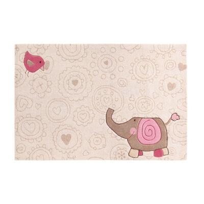 Sigikid Gyerekszőnyeg, Happy Zoo Elephant, Bézs, 140X200 - A-Z Bútor Webáruház
