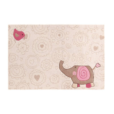 Sigikid Gyerekszőnyeg, Happy Zoo Elephant, Bézs, 120X180 - A-Z Bútor Webáruház