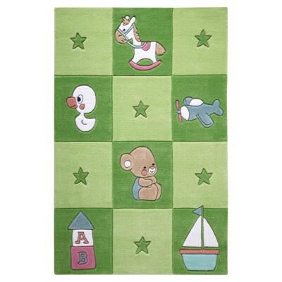 Smart Kids Gyerekszőnyeg, Newborn, Zöld, 110X170 - A-Z Bútor Webáruház