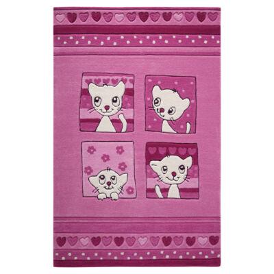 Smart Kids Gyerekszőnyeg, Kitty Kat, Rózsaszín, 110X170 - A-Z Bútor Webáruház